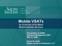 Mobile VSATs An Overview of Ku-Band Mobile Satellite Services