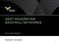 Next Generation Backhaul Networks