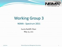 Working Group 3 - Spectrum 2011 Report
