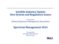Satellite Systems, Mobility, and Regulatory Issues