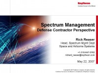 Spectrum Management from the Defense Contractor Perspective