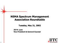 NSMA Spectrum Management Association Roundtable