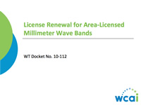 License Renewal for Area-Licensed Millimeter Wave Bands