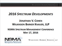 2016 Spectrum Developments