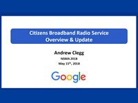 Citizens Broadband Radio Service Overview and Update