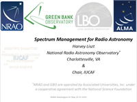 Spectrum Management for Radio Astronomy